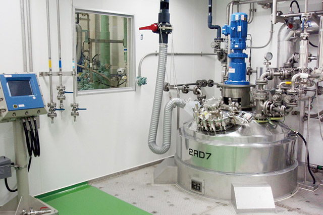 Investigational Medicinal Production Facility (Inside Clean Room)